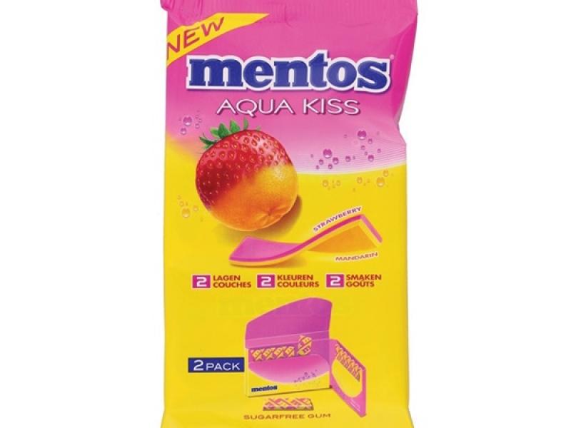 Mentos aqua kiss (4 pack)